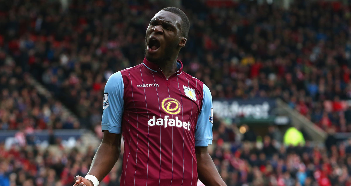 Christian Benteke lords it over the Sunderland fans after he puts them to the sword