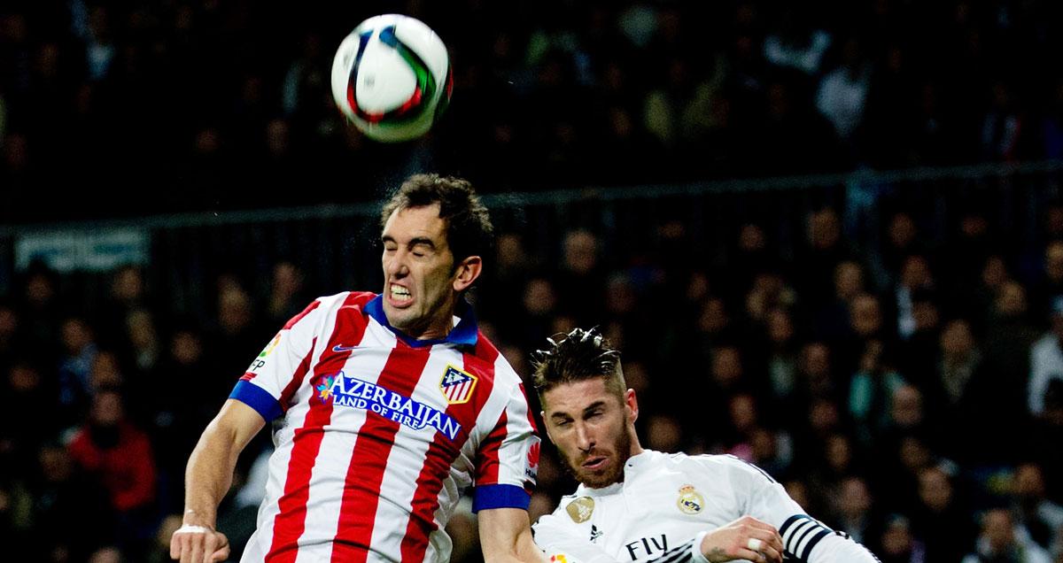 Diego Godin climbs higher than Sergio Ramos