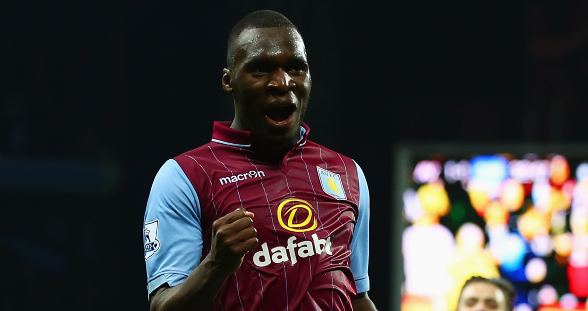 Christian Benteke elated with a goal against West Brom