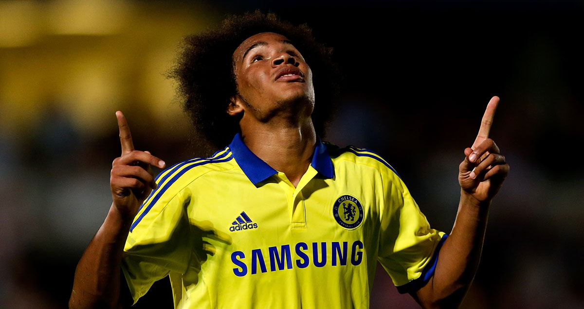 Izzy Brown points to the heavens