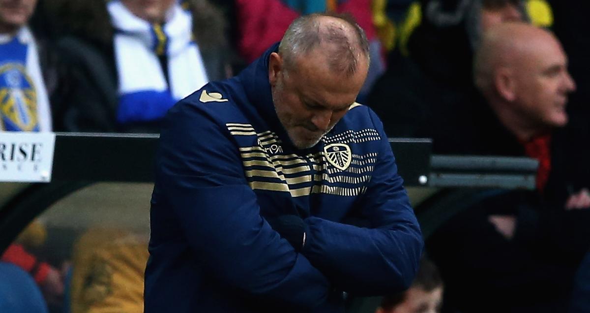 Leeds boss Neil Redfearn looking forlorn