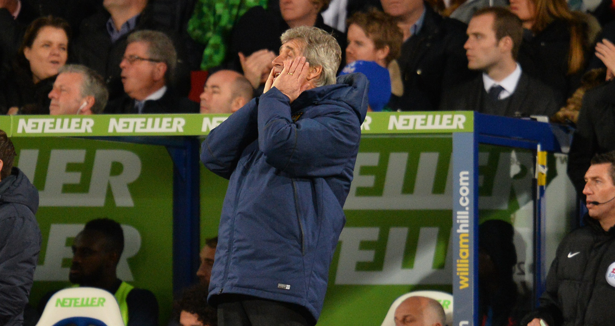 A gobsmacked Manuel Pellegrini can't believe the goings on at Selhurst Park