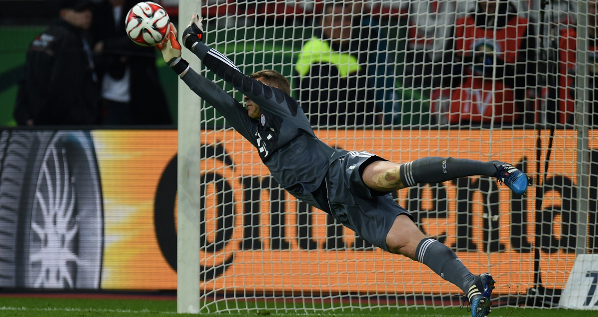 Manuel Neuer was a hero again in a recent penalty shootout against Bayer Leverkusen