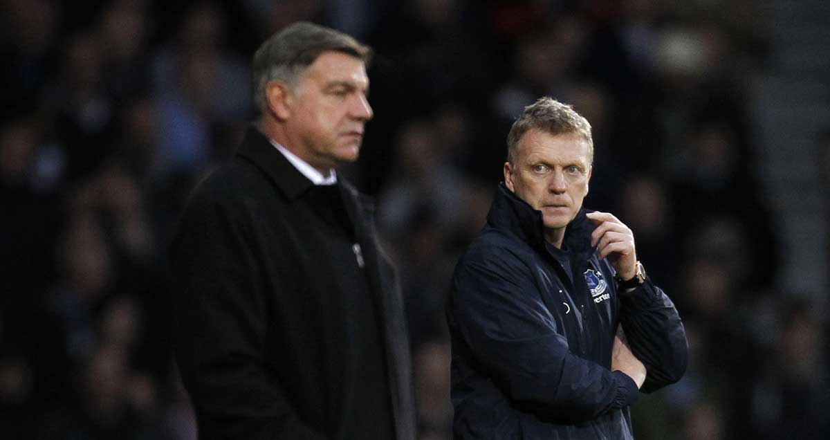 West Ham manager Sam Allardyce and David Moyes
