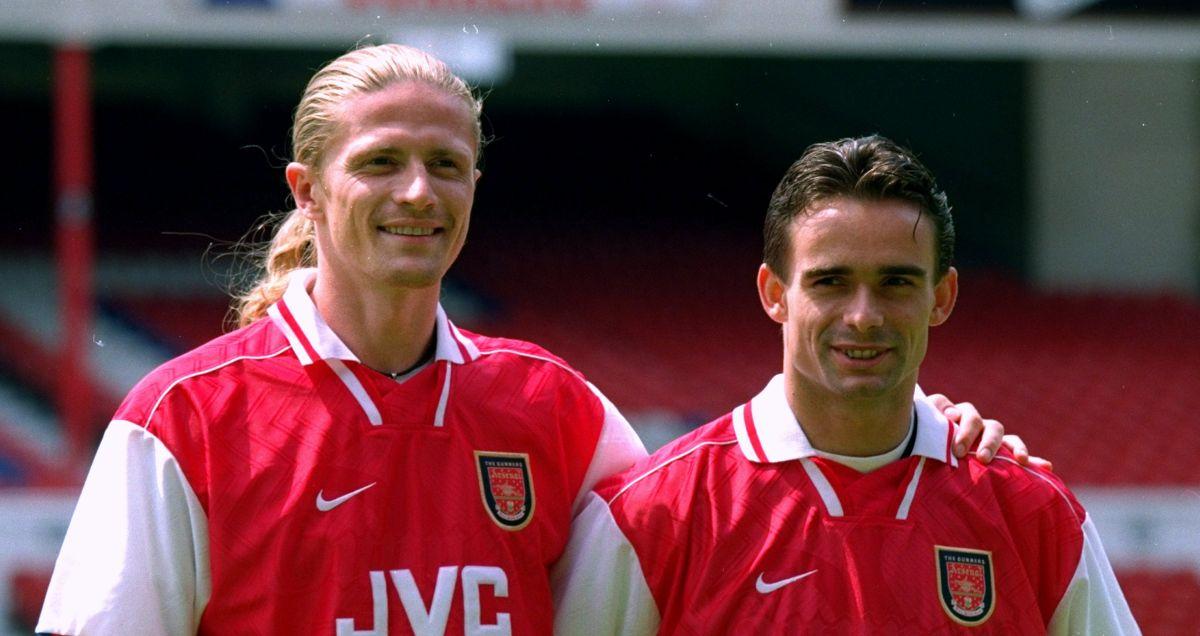 Emmanuel Petit and Marc Overmars Arsenal