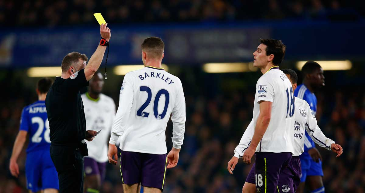 Gareth-Barry-of-Everton-sees-yellow-against-Chelsea