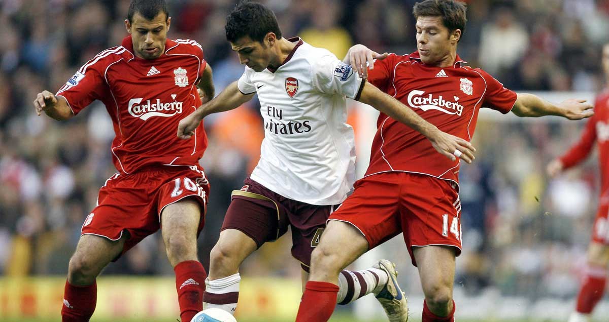 Javier Mascherano and Xabi Alonso at Liverpool