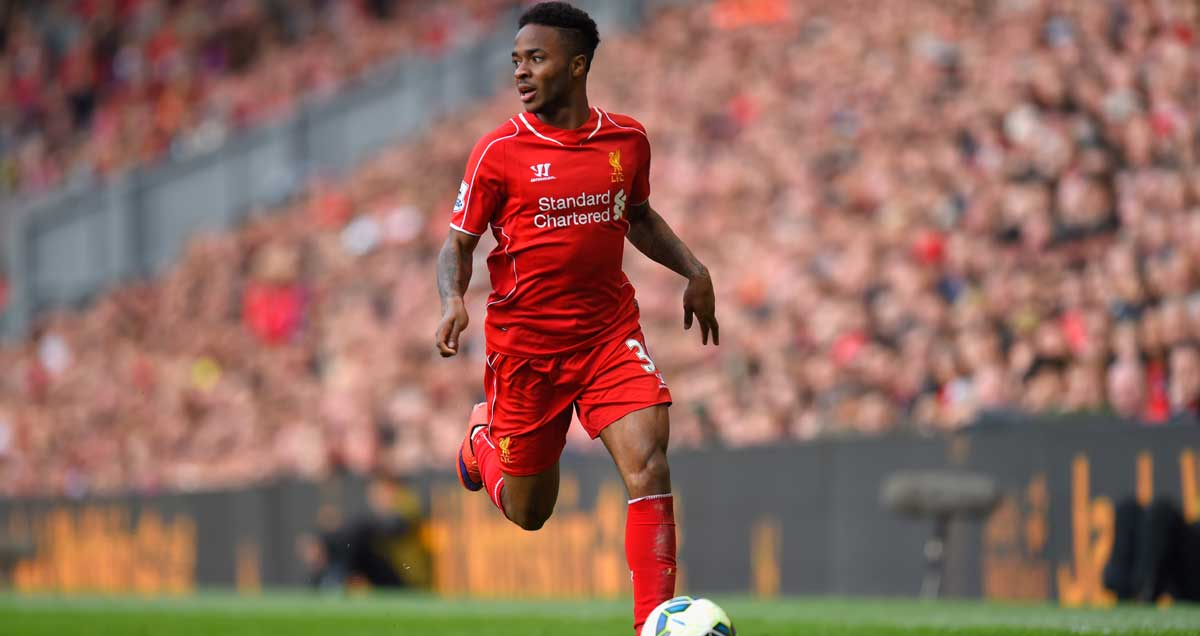 Raheem Sterling on the ball for Liverpool