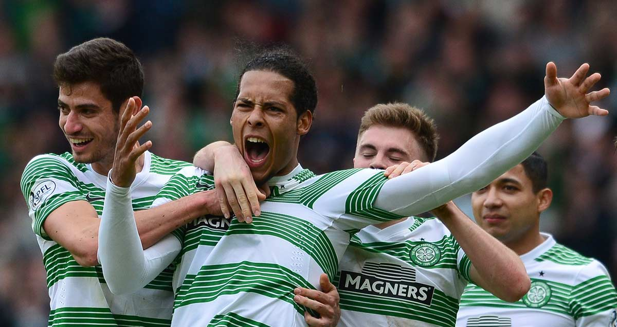 Virgil van Dijk mobbed by those Celtic colleagues he'll be abandoning for Southampton