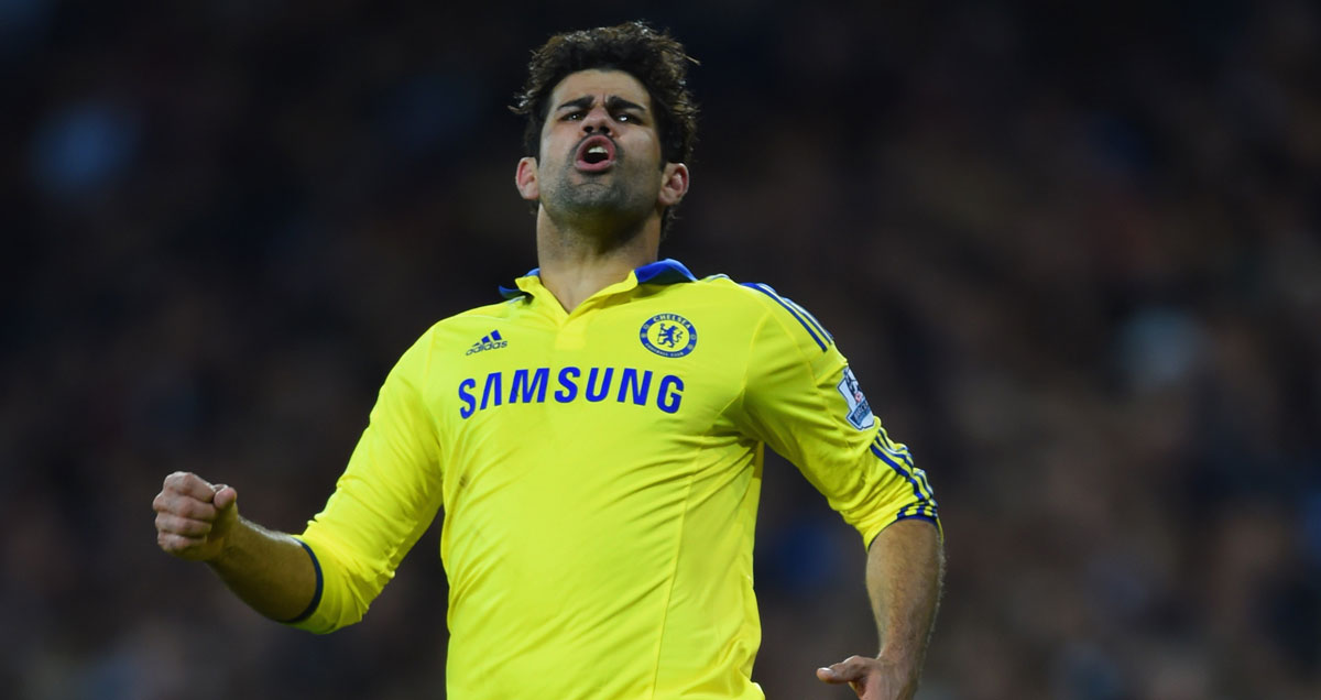 An easily agitated Diego Costa vents frustration