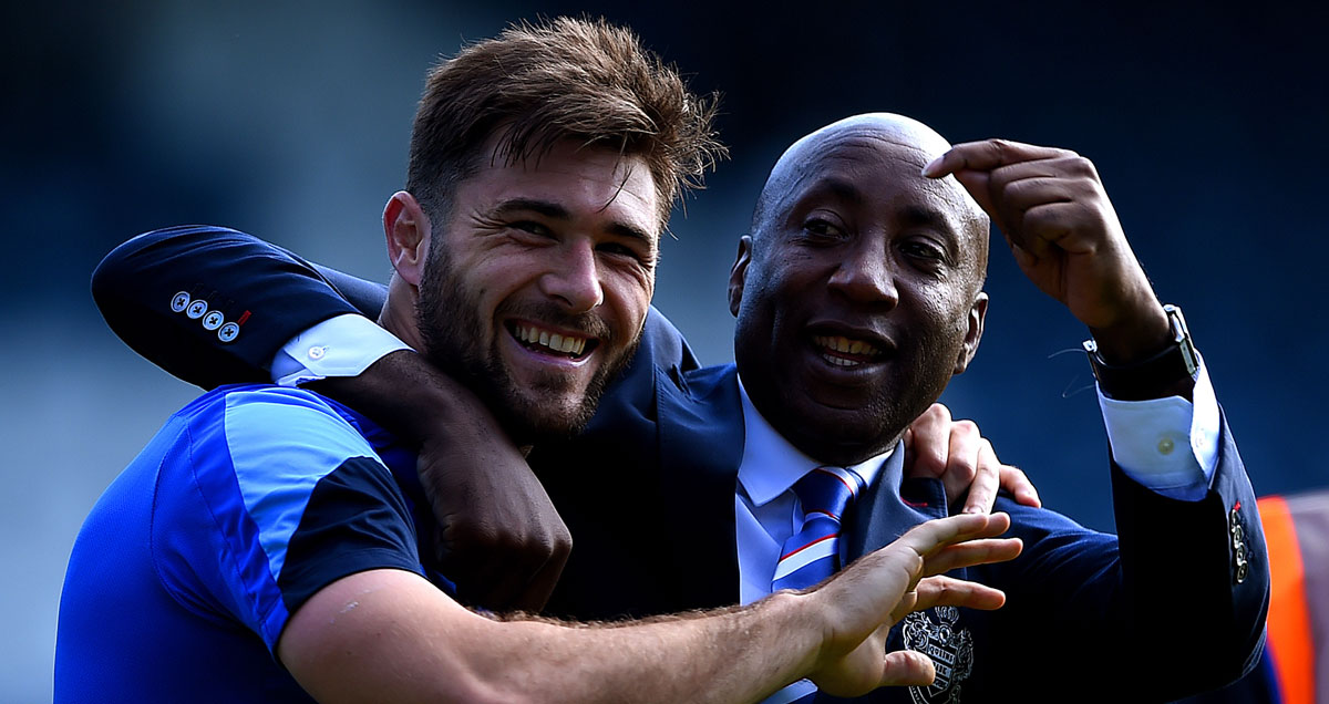 Charlie Austin frolics with his boss Chris Ramsey