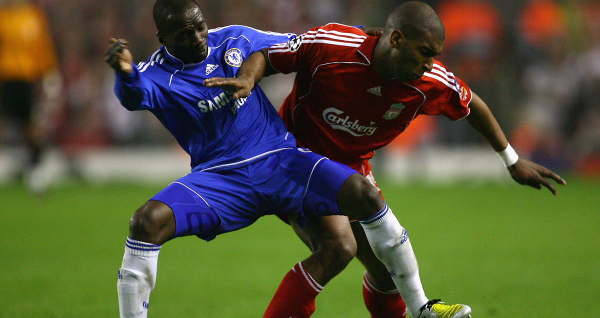 Makelele - Occupying the role named after him against Liverpool