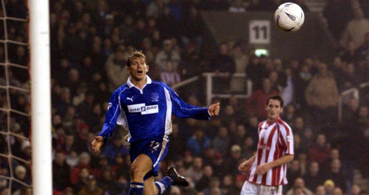 Jesper Blomqvist in action for Everton