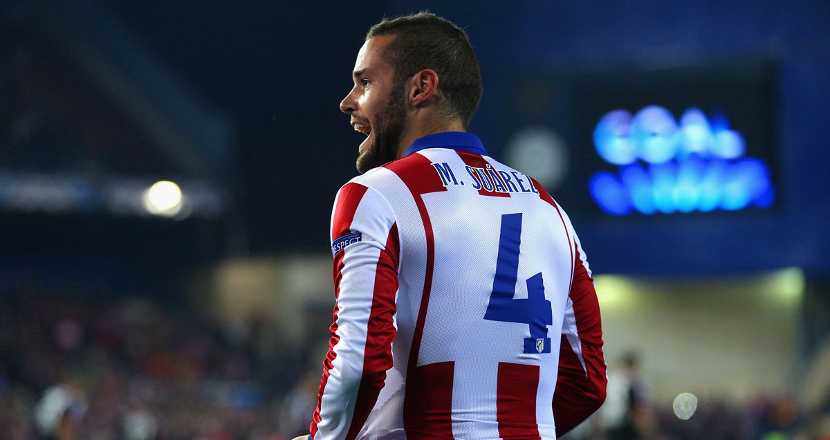 Mario Suarez is thought to be surplus to requirements at Atletico Madrid