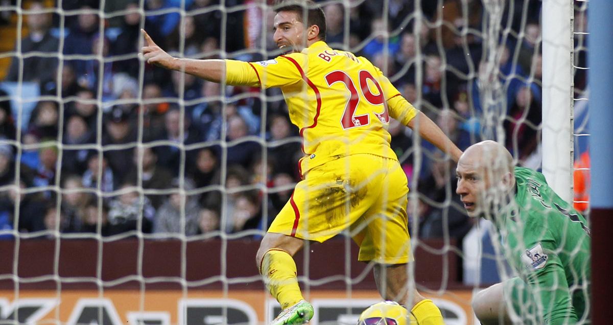 Brad Guzan immediately recognises the shame of permitting a rare Fabio Borini goal for Liverpool