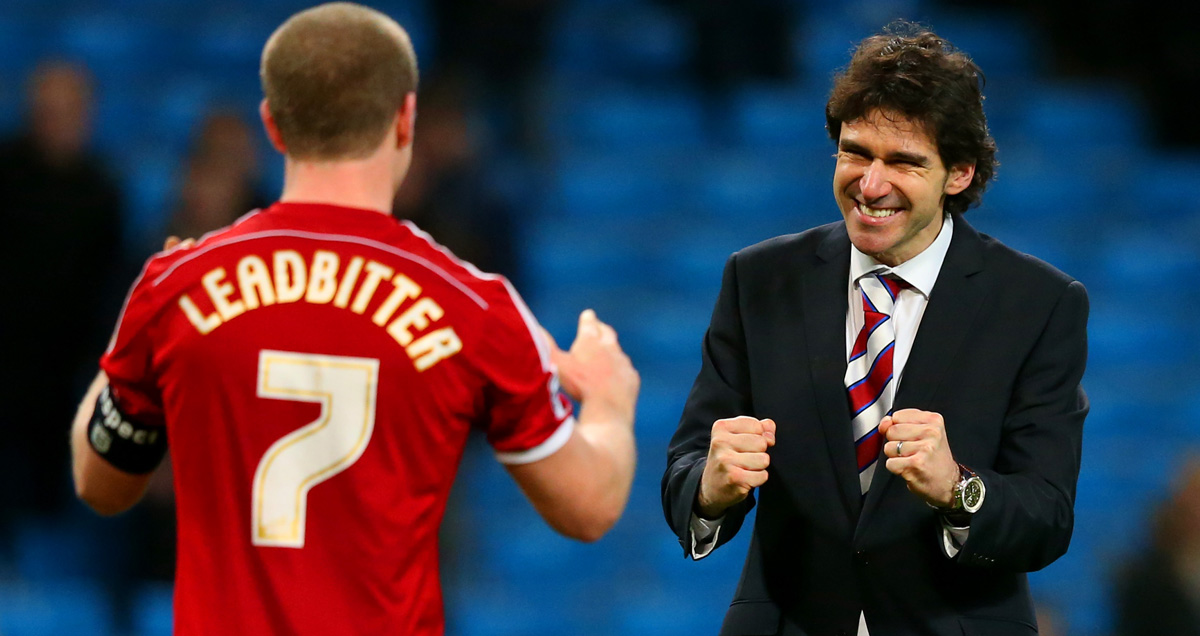 Middlesbrough boss Aitor Karanka loosens his grip on the handbrake when the Capital One Cup comes to town