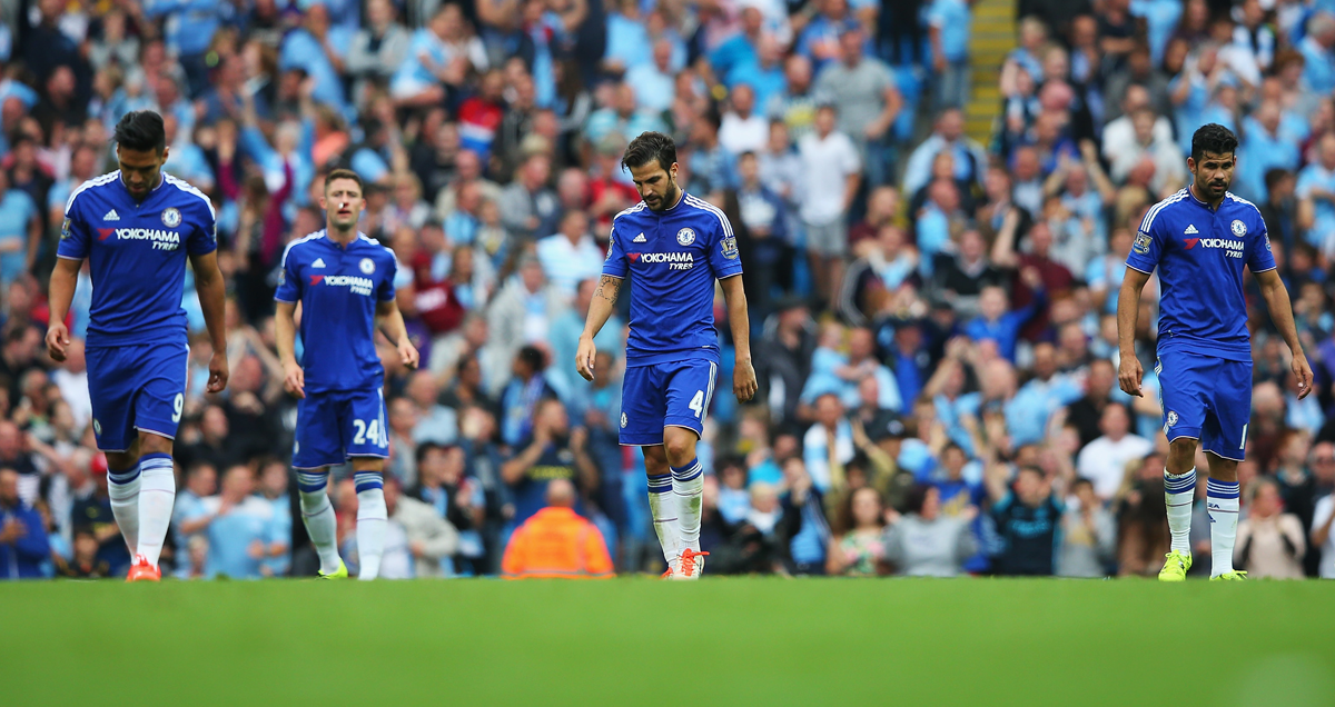 Chelsea trudge off after being defeated 3-0 by Man City