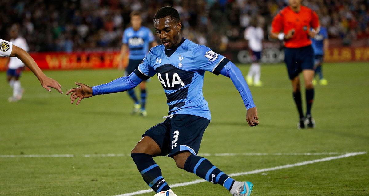 Danny Rose clears his lines during Tottenham's pre-season