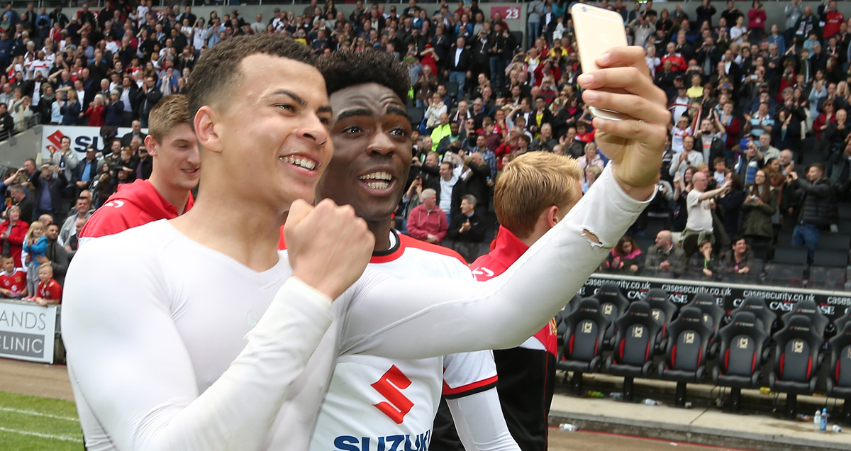 Dele Alli helped guide MK Dons into the Championship before joining Tottenham
