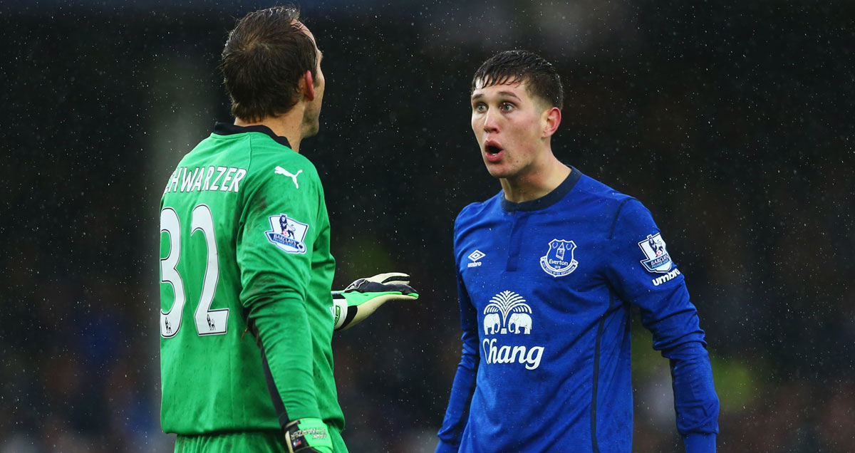 John Stones squares up to Mark Schwarzer