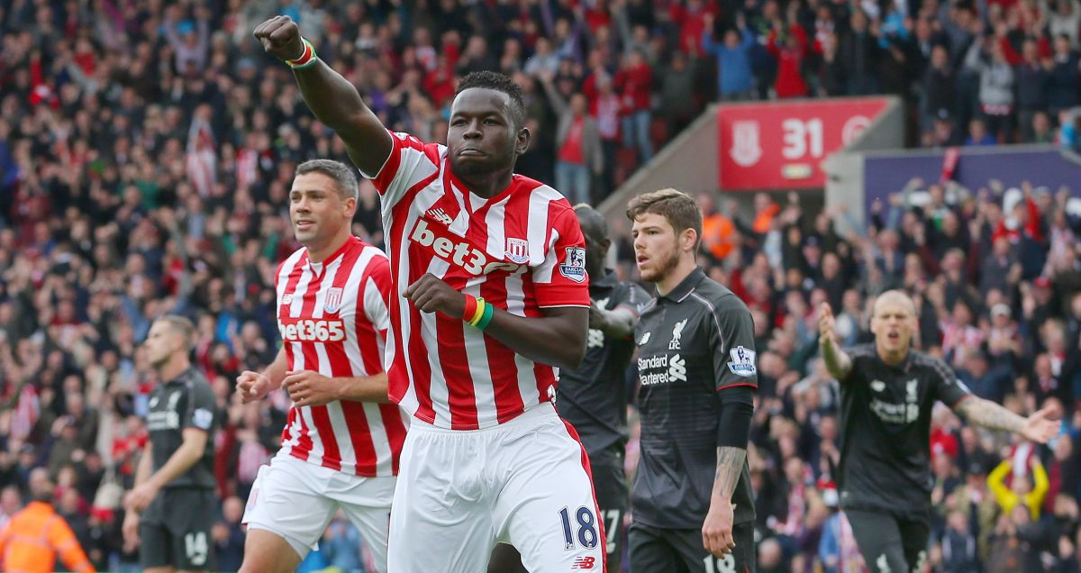 Mame Briam Diouf of Stoke piles on the pain for Liverpool