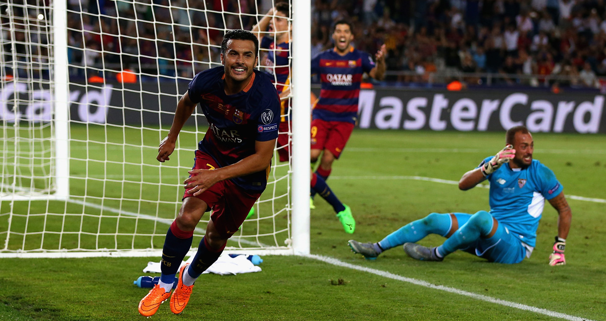 Pedro captured yet more headlines with the extra-time winner in the UEFA Super Cup