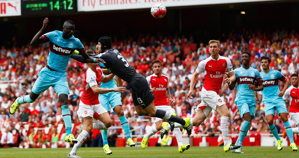 Petr Cech endured an Arsenal Premier League debut to forget against West Ham