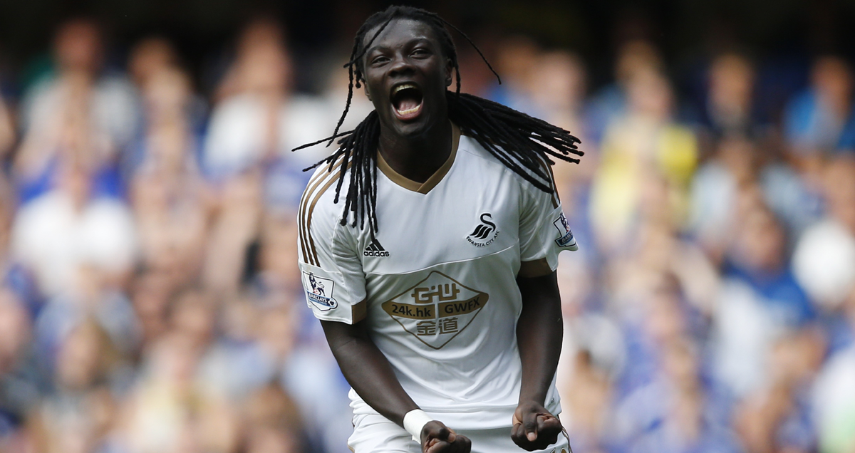 Bafetimbi Gomis bags against Chelsea