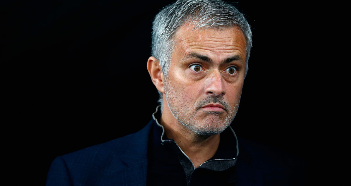 A horrified Jose Mourinho does not like what he has seen from Ander Herrera