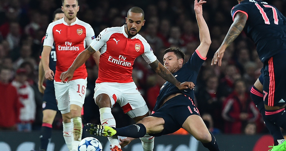 Theo Walcott caused Bayern Munich no end of problems at the Emirates