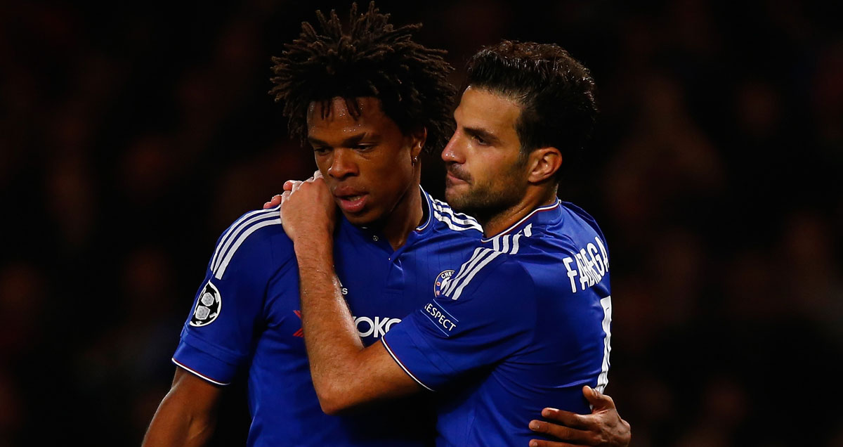 Cesc Fabregas takes physical measures to console unsettled Loic Remy