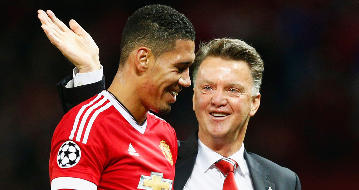 Louis van Gaal capitalises on a rare opportunity to celebrate
