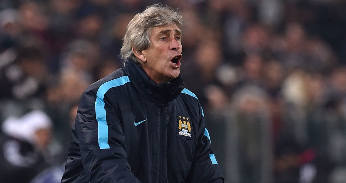 Manuel Pellegrini bellows instructions to his troops