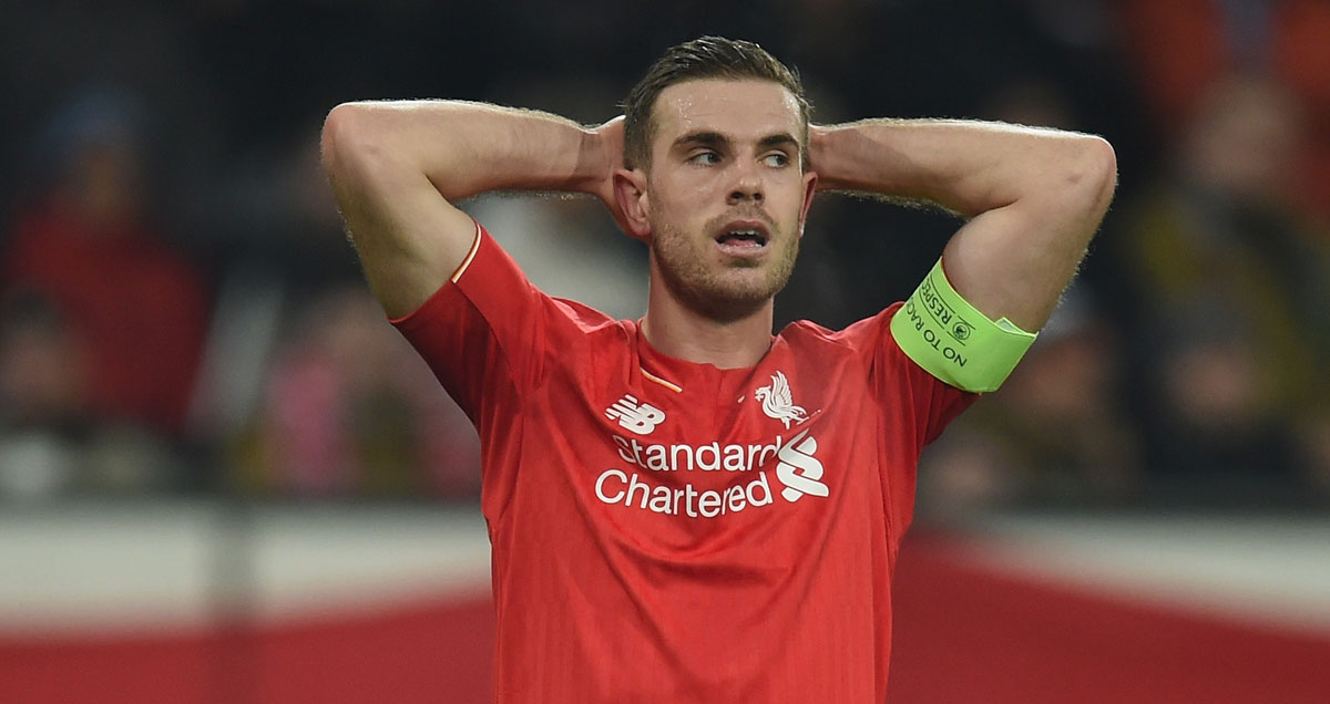 Jordan Henderson can't hide his disappointment