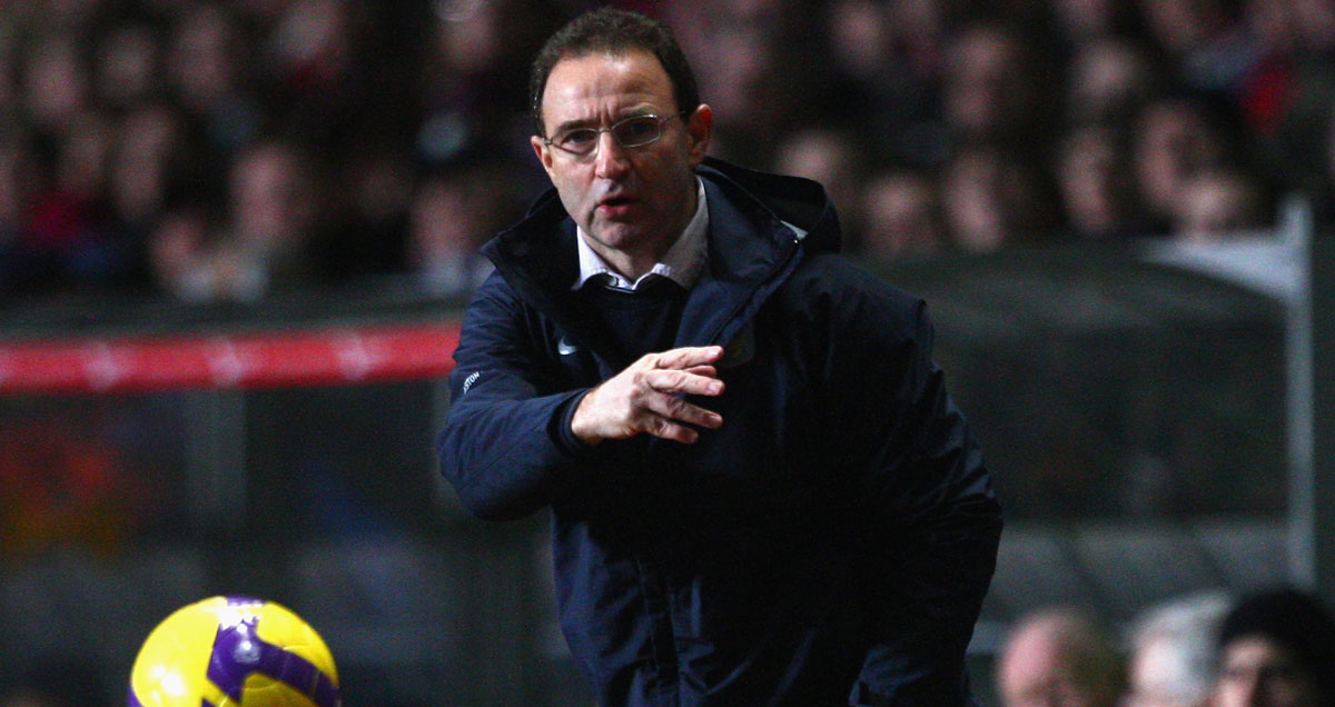 O'Neill steered Villa to consistently-high league finishes