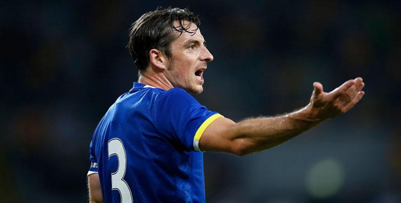 Everton defender Leighton Baines