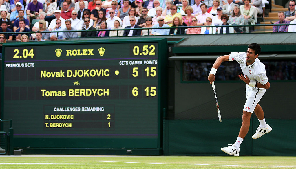 Djokovic vs Berdych: Three and into the semis for Serb