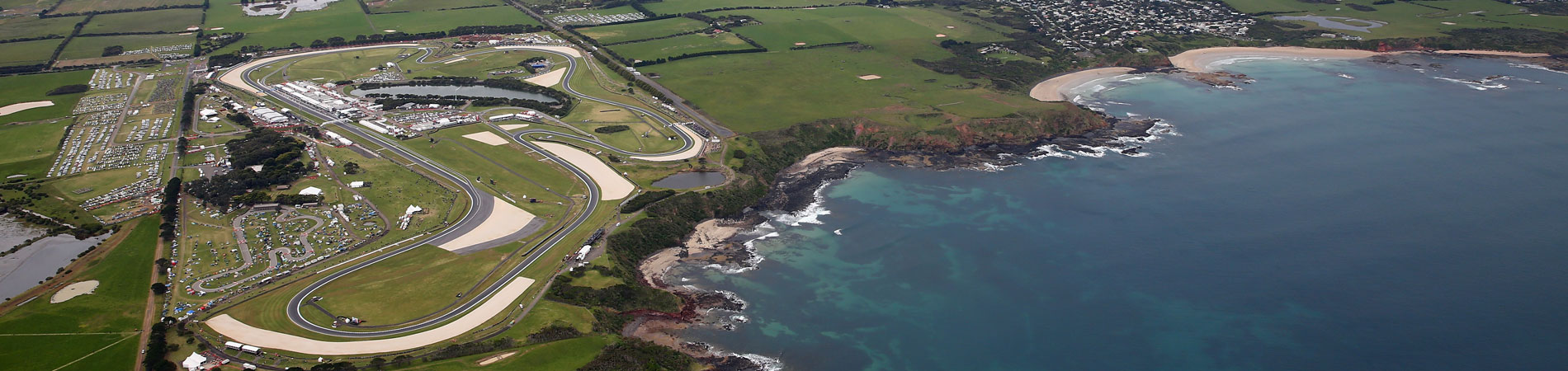 Aerial view of the Phillip Island circuit