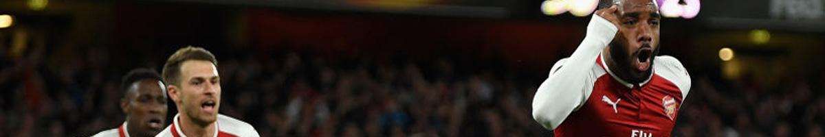 Alexandre Lacazette scoring for Arsenal