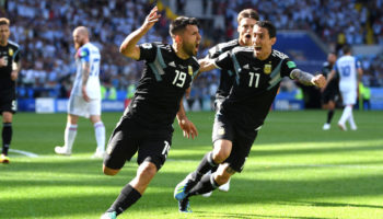 Serigo Aguero of Argentina celebrates