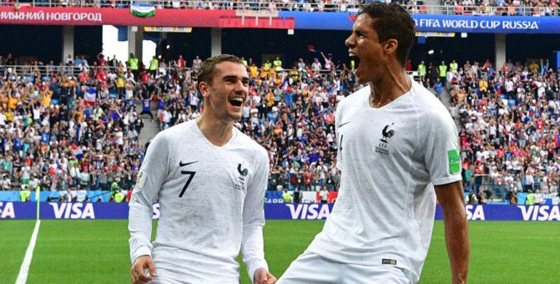 France stars Antoine Griezmann and Raphael Varane