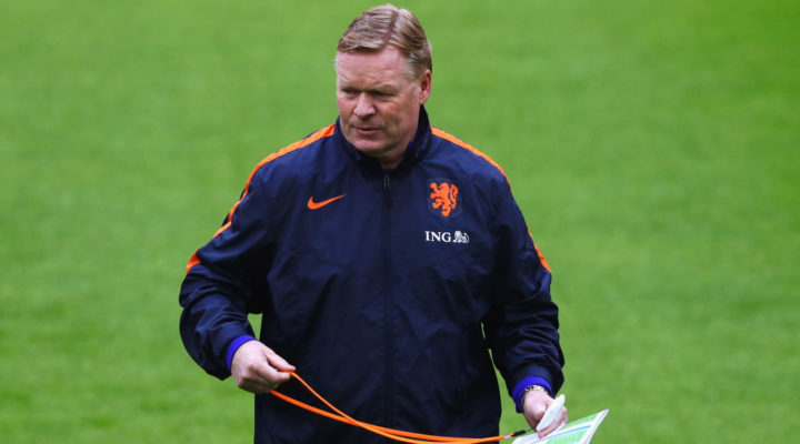 Netherlands manager Ronald Koeman