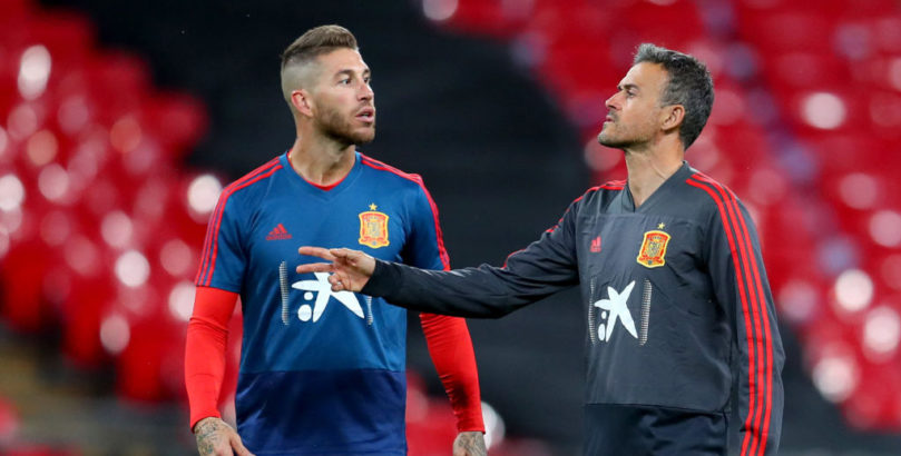 Spain boss Luis Enrique and captain Sergio Ramos