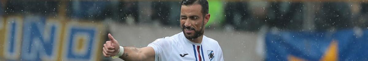 Sampdoria striker Fabio Quagliarella