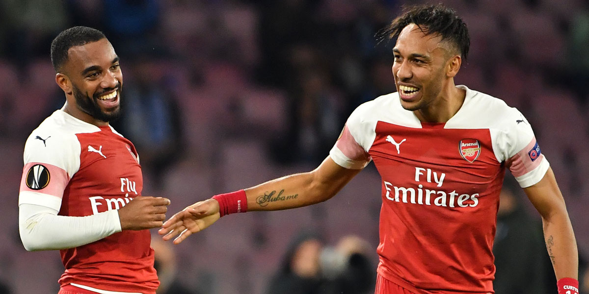 Arsenal duo Alexandre Lacazette and Pierre-Emerick Aubameyang