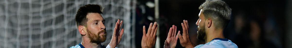 Argentina pair Lionel Messi and Sergio Aguero