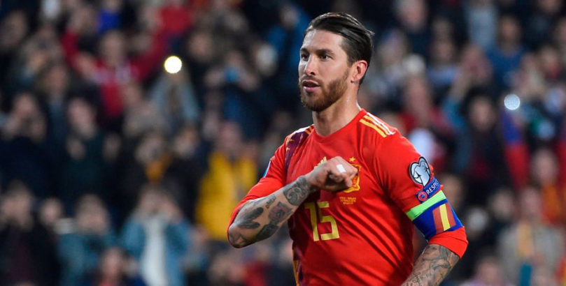 Spain defender Sergio Ramos