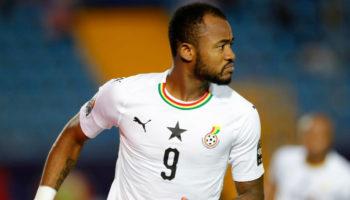 Ghana forward Jordan Ayew