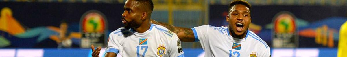 DR Congo forwards Cedric Bakambu and Britt Assombalonga