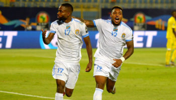 DR Congo forwards Cedric Bakambu and Britt Assombalonga